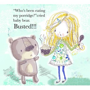 Jane Hirst Illustration goldilocks busted