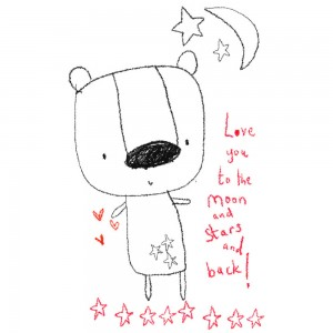 Jane Hirst Illustration love you to the moon and back