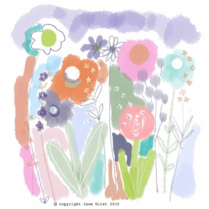 Jane Hirst Illustration meadow flowers