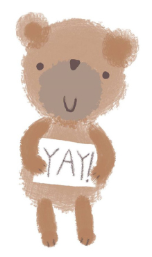 Jane Hirst Illustration website header bear yay
