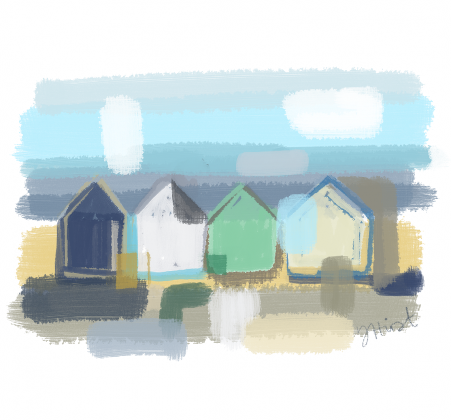 Beach Huts Abstract 1
