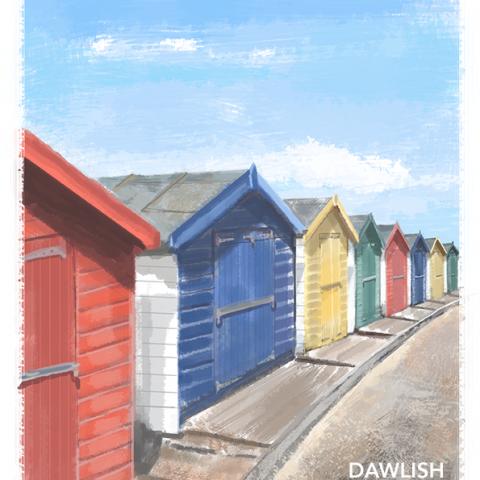 Dawlish Warren beach huts