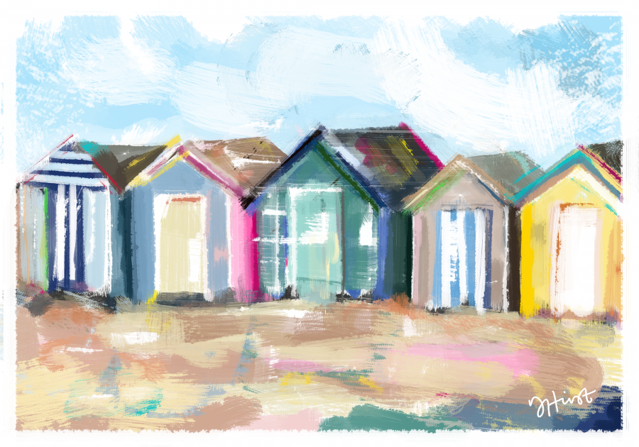 Beach Huts (inspired by Teignmouth)