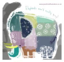 Elephants aren't really grey!