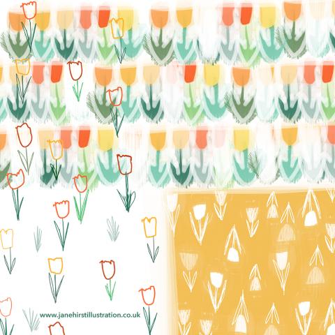 Tulip print.